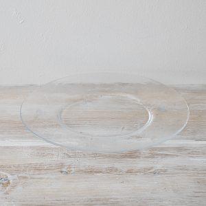 ガラス皿 30cm 中平たいところ16cm