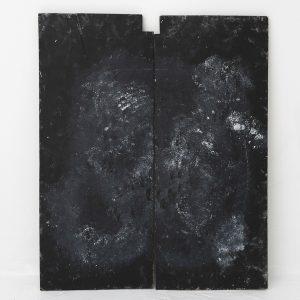 黒、白汚し90cm×74cm
